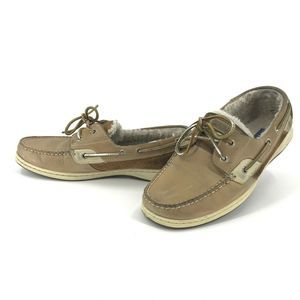 Sperry Womens US 9.5 Fleece Lined Boat Shoes